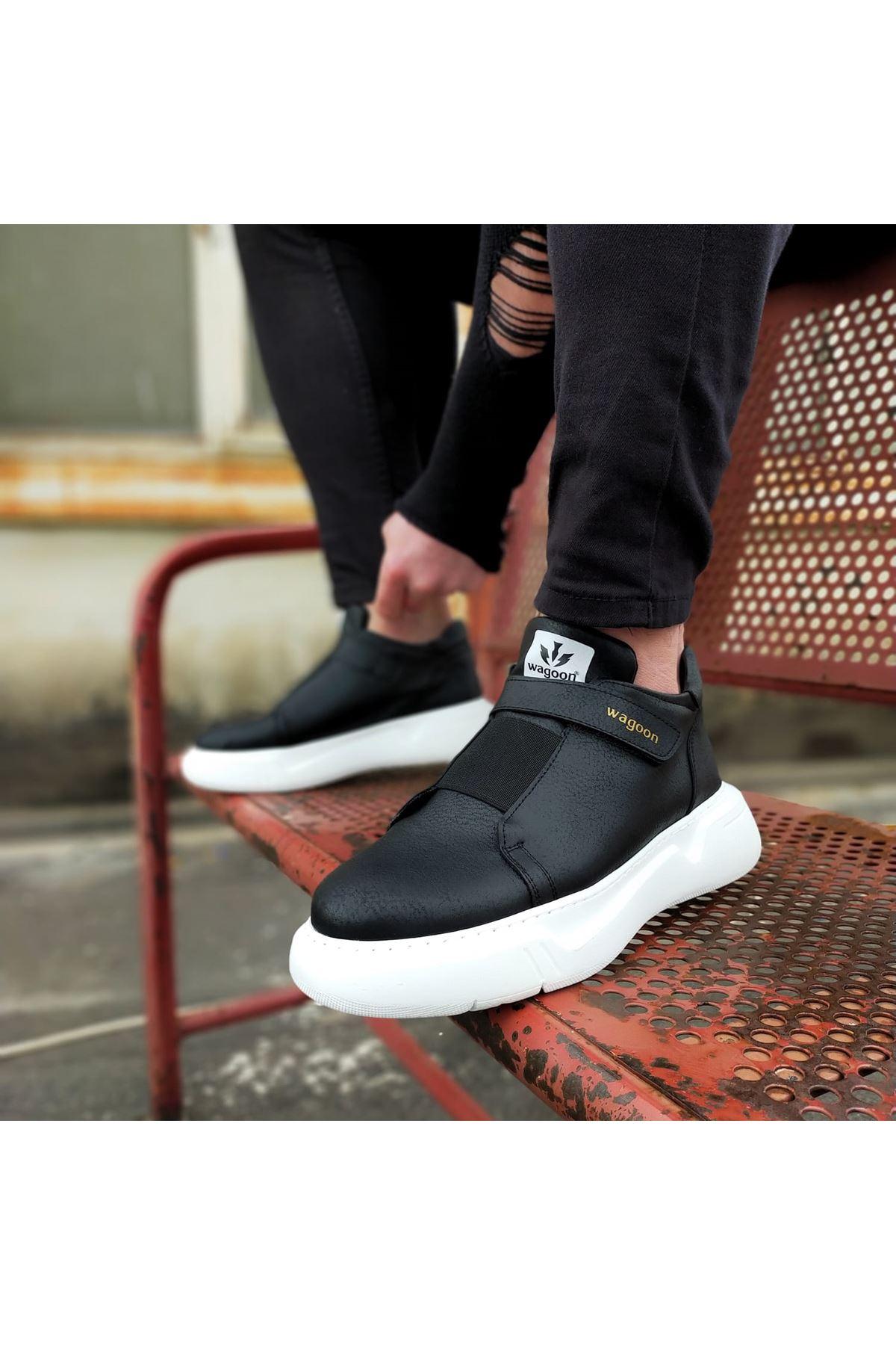 Wagoon WG051 Siyah Erkek Yüksek Taban Ayakkabı