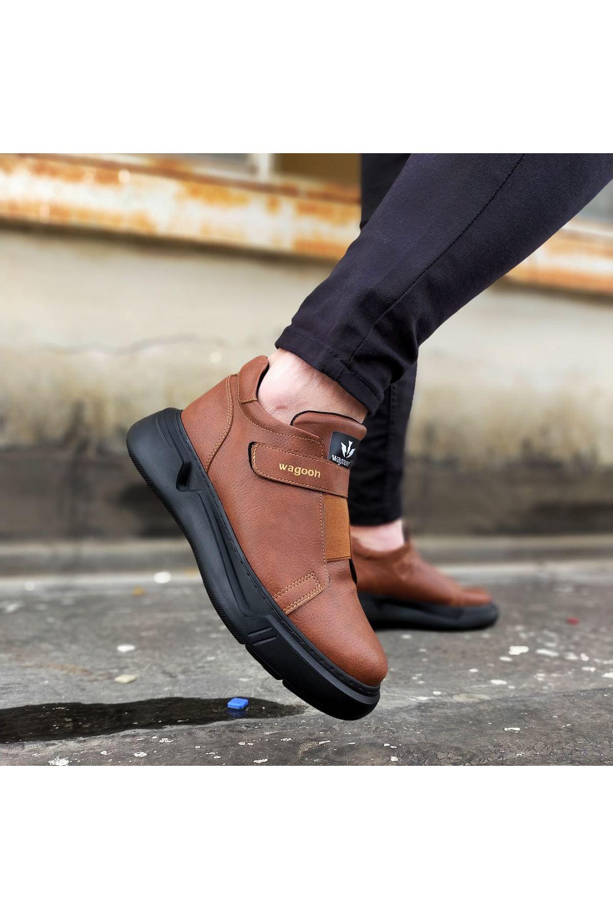 Wagoon WG051 Taba Erkek Yüksek Taban Ayakkabı