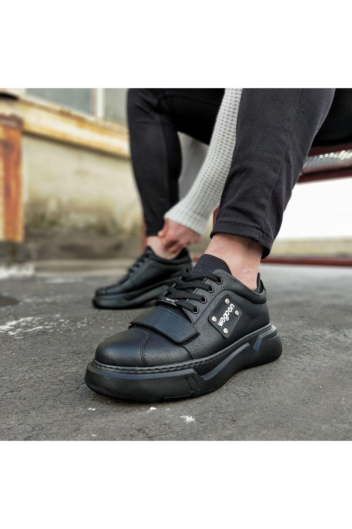Wagoon WG018 Kömür Erkek Yüksek Taban  Ayakkabı