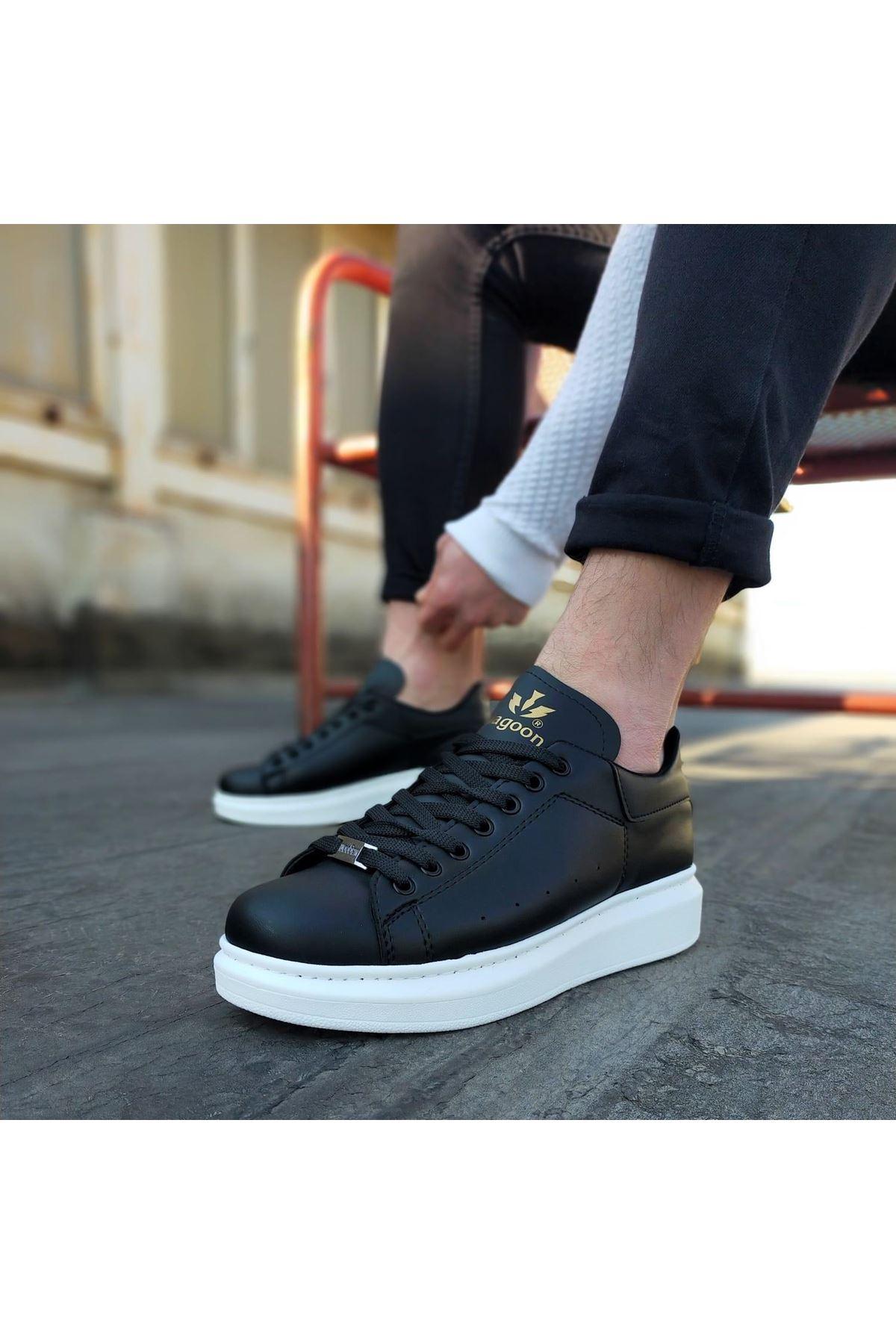 Wagoon WG501  Siyah Erkek Yüksek Taban  Ayakkabı