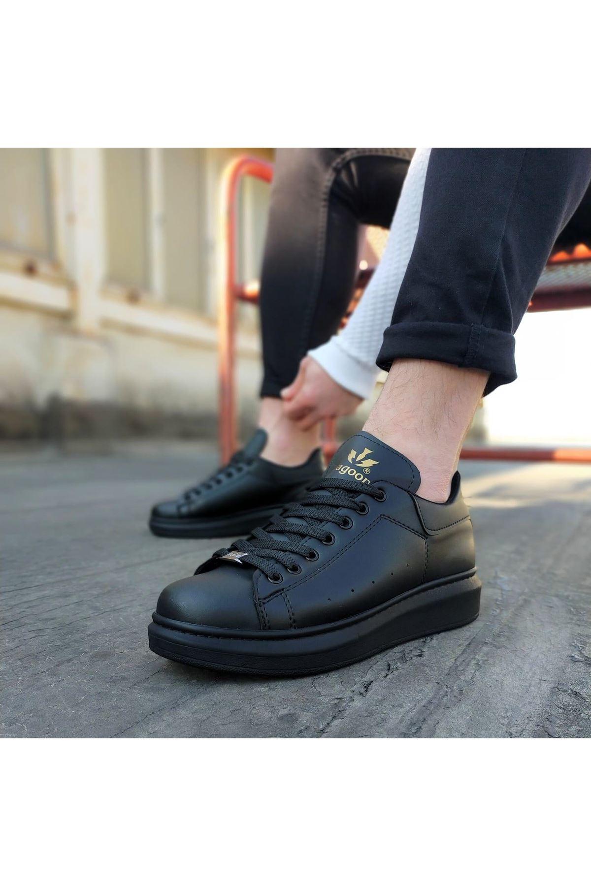Wagoon WG501  Kömür Erkek Yüksek Taban  Ayakkabı
