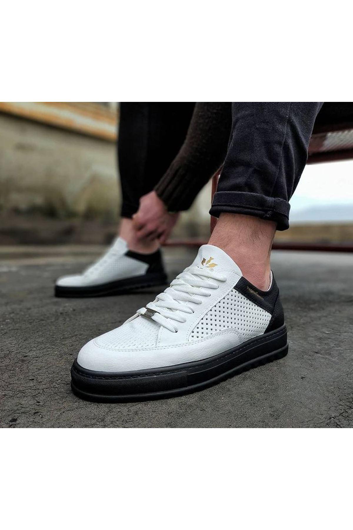 Wagoon WG505 Beyaz Kömür Erkek Günlük Ayakkabı