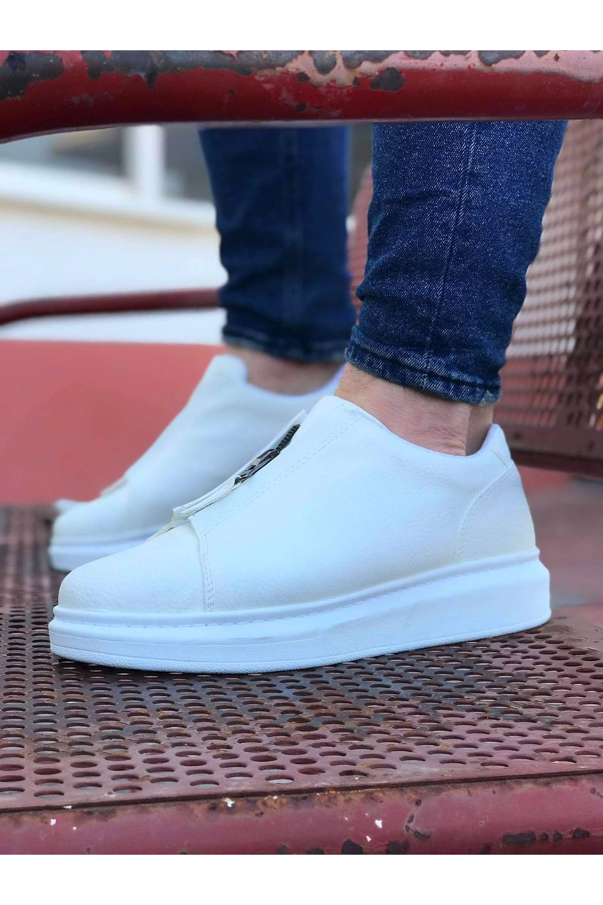 Wagoon WG010 Beyaz Cilt Erkek Casual Ayakkabı