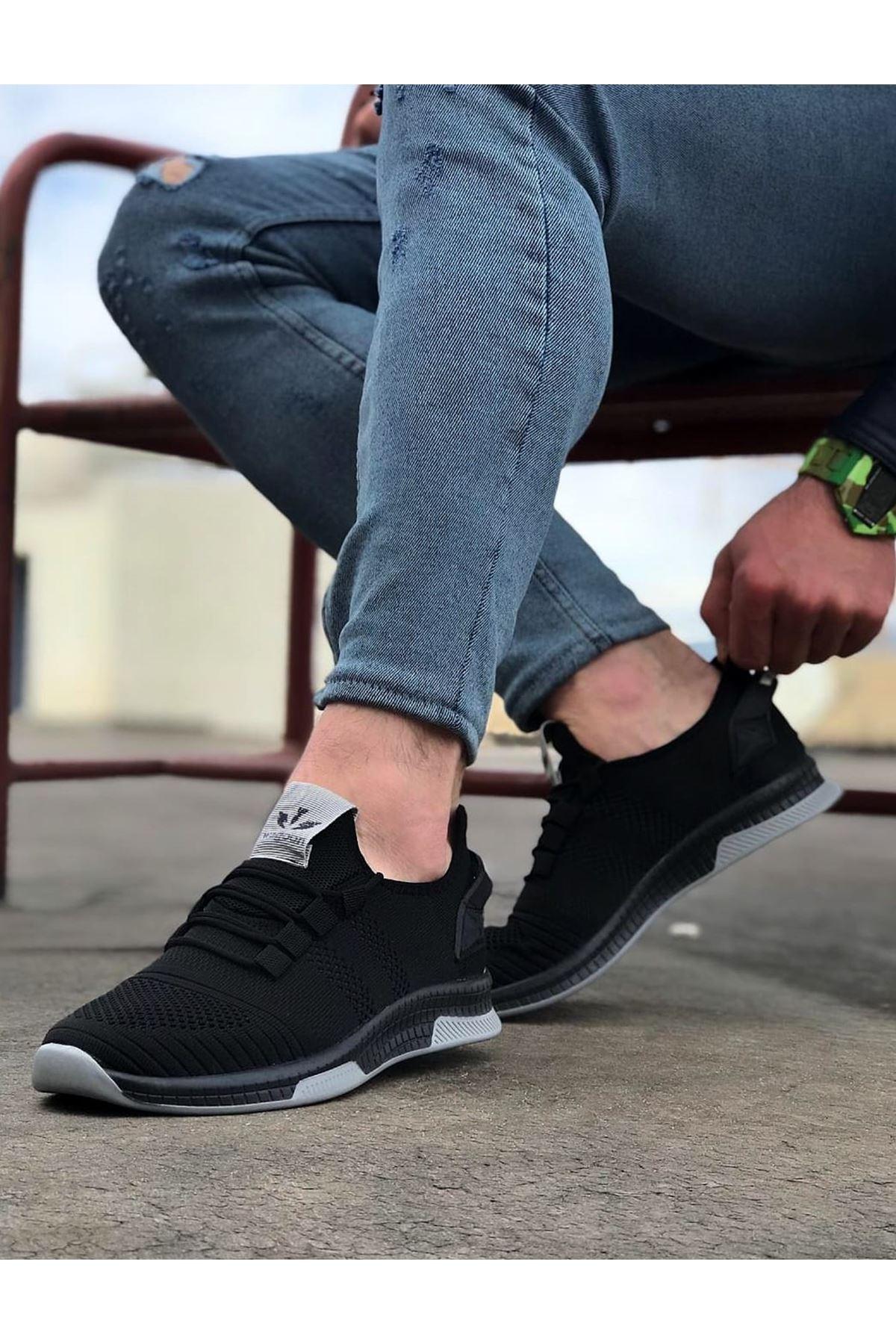 Wagoon WG101 Siyah Gri Erkek Spor Ayakkabı