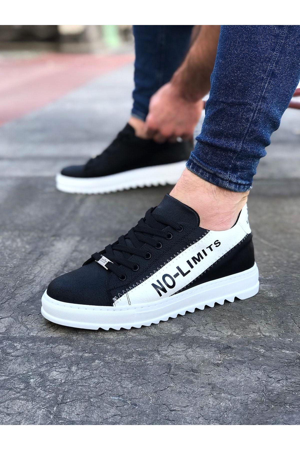 Wagoon WG027 Siyah Beyaz No Limit Erkek Casual Ayakkabı