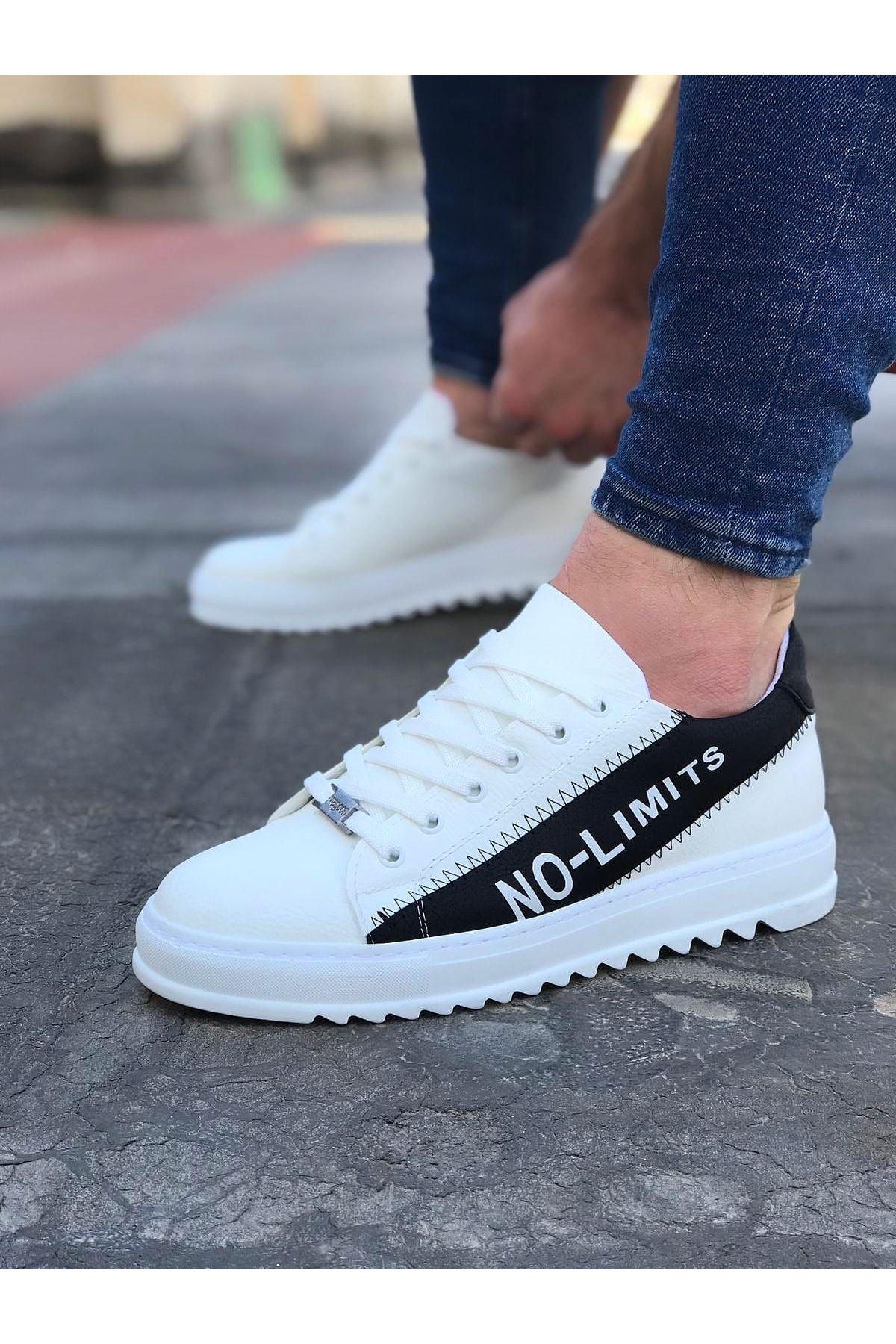 Wagoon WG027 Beyaz Siyah No Limit Erkek Casual Ayakkabı
