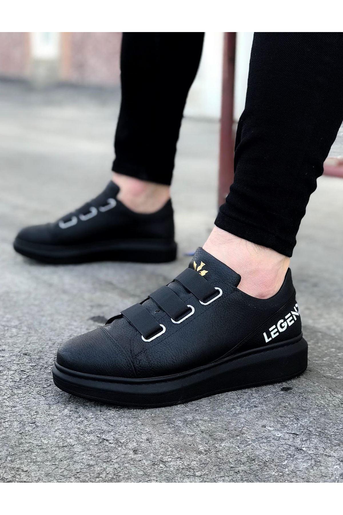 Wagoon WG029 3 Bant Legend Kömür Kalın Taban Casual Erkek Ayakkabı