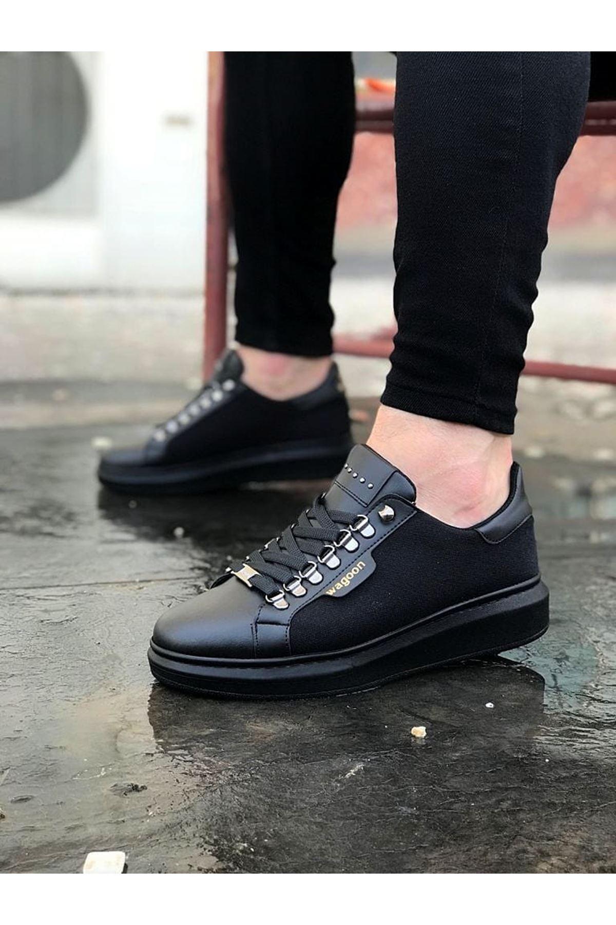 Wagoon WG01 Kömür Keten Erkek Casual Ayakkabı