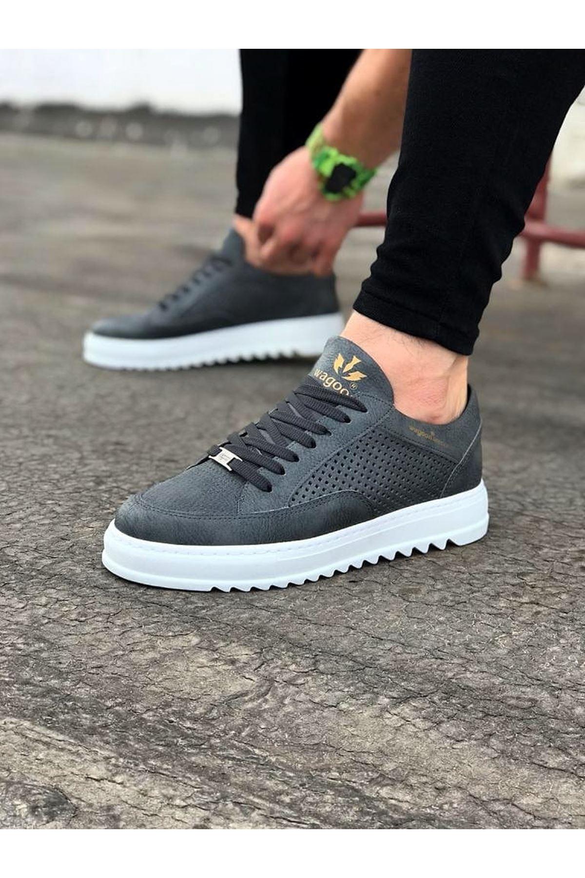 Wagoon WG505 Gri Erkek Günlük Ayakkabı