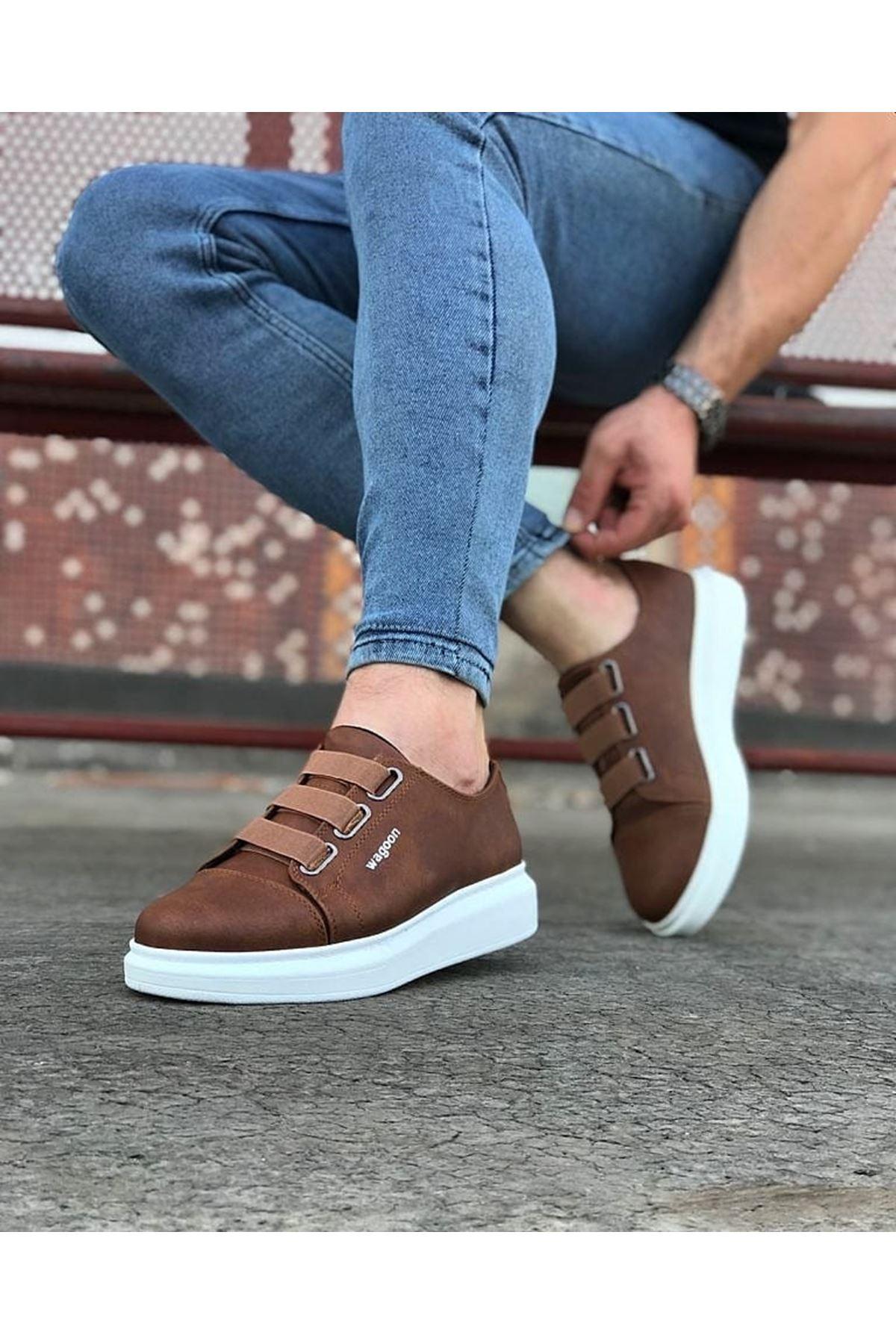 Wagoon WG026 Taba Kalın Taban Casual Erkek Ayakkabı