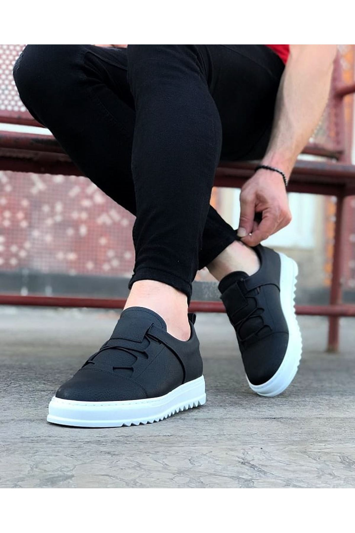 Wagoon WG036 Siyah Erkek Casual Ayakkabı