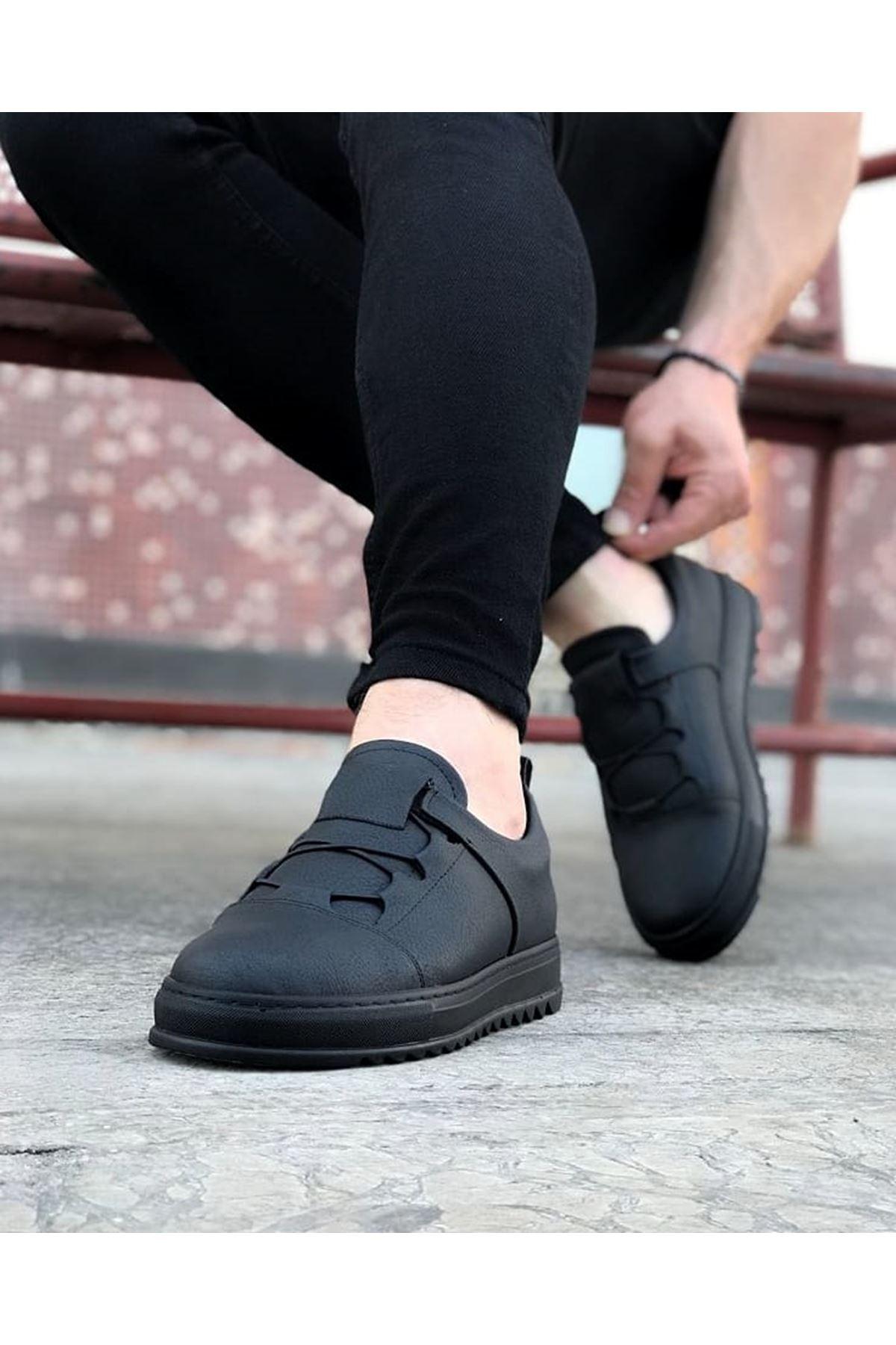 Wagoon WG036 Kömür Erkek Casual Ayakkabı