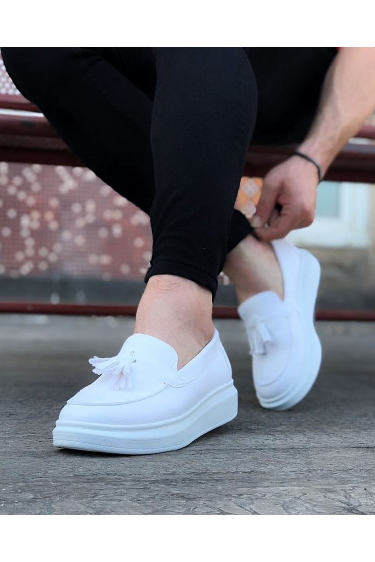 Wagoon WG154 Beyaz Erkek Günlük Ayakkabı
