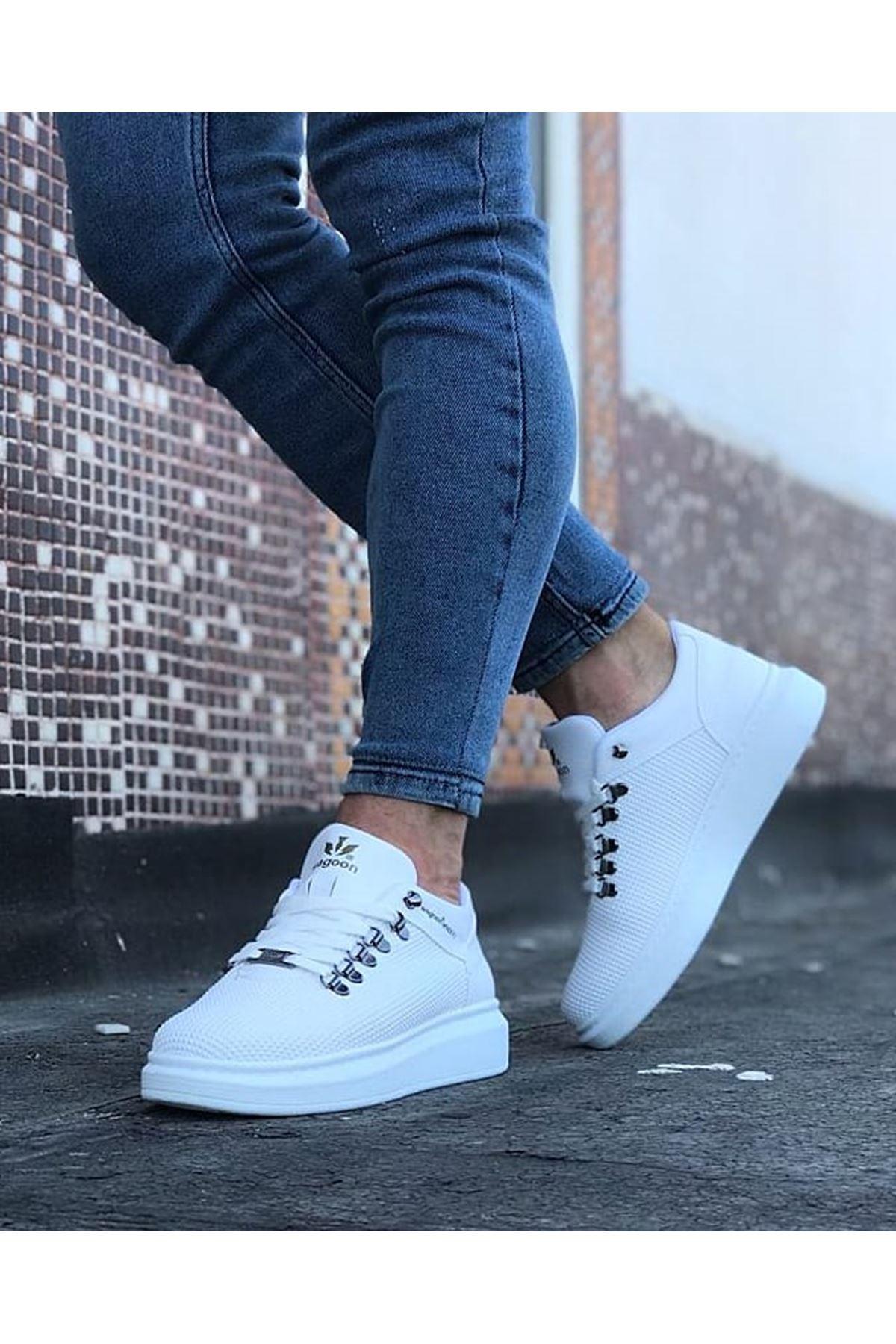 Wagoon WG047 Beyaz  Erkek Casual Ayakkabı