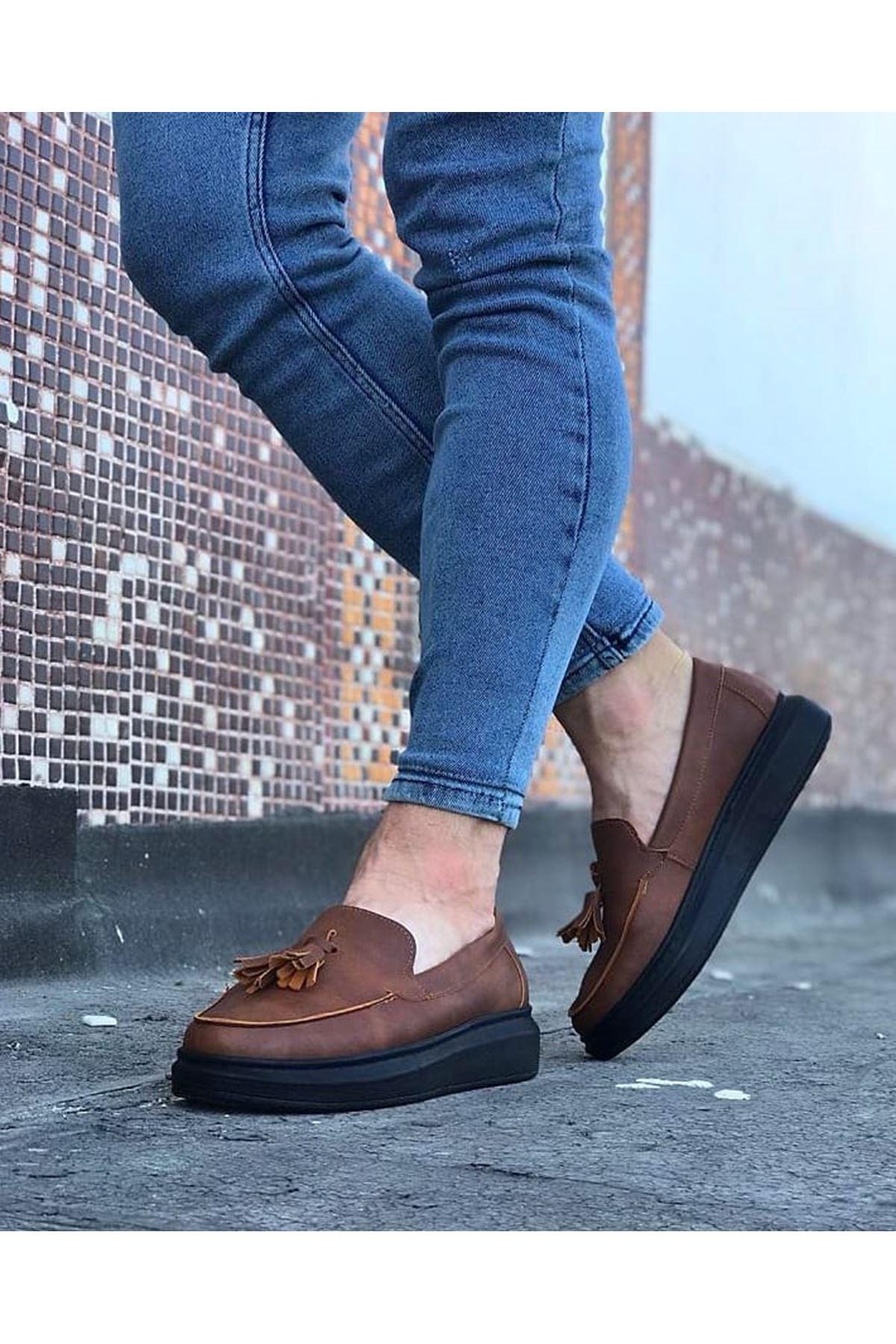 Wagoon WG154 Taba Kömür Erkek Günlük Ayakkabı