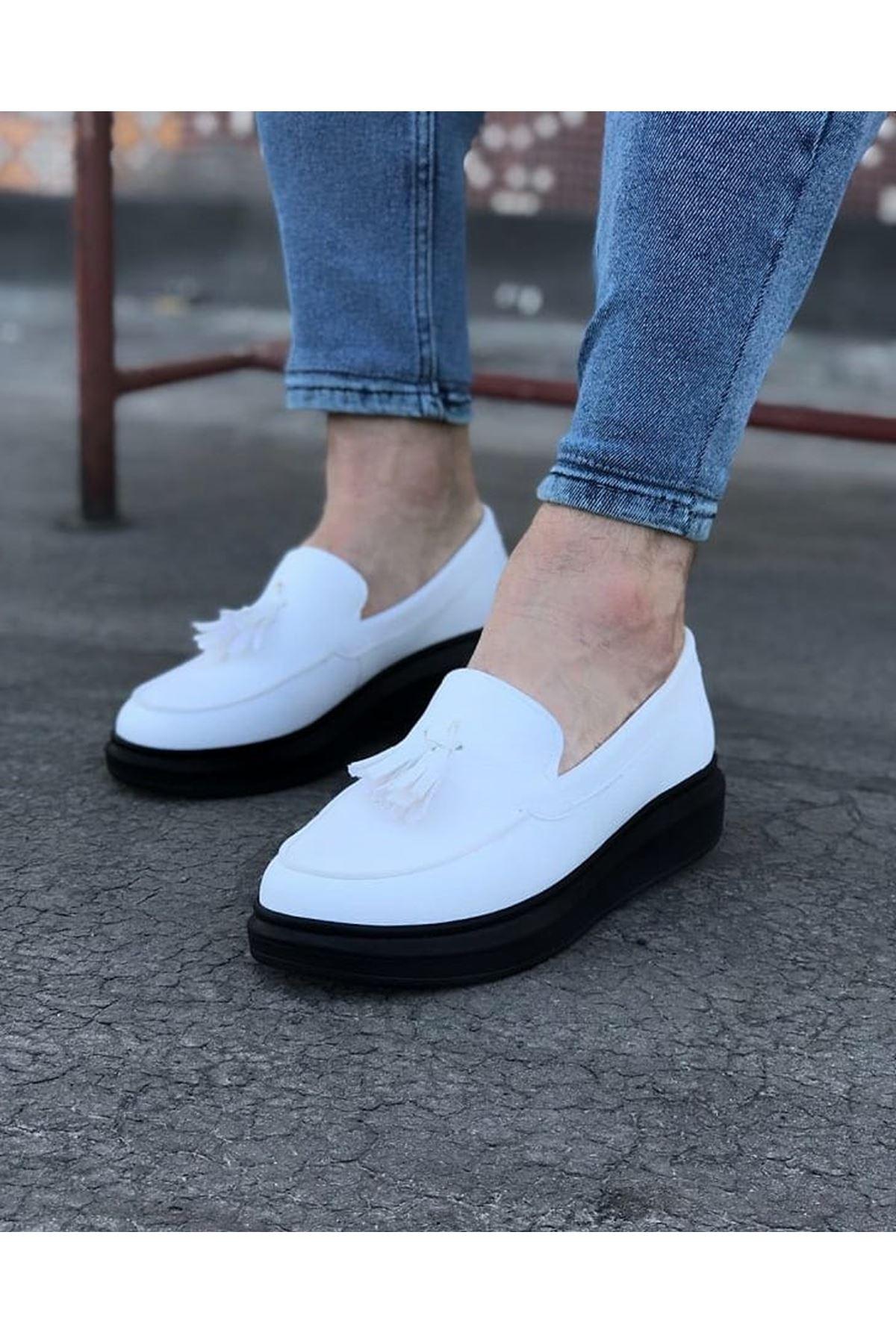Wagoon WG154 Beyaz Kömür Erkek Günlük Ayakkabı
