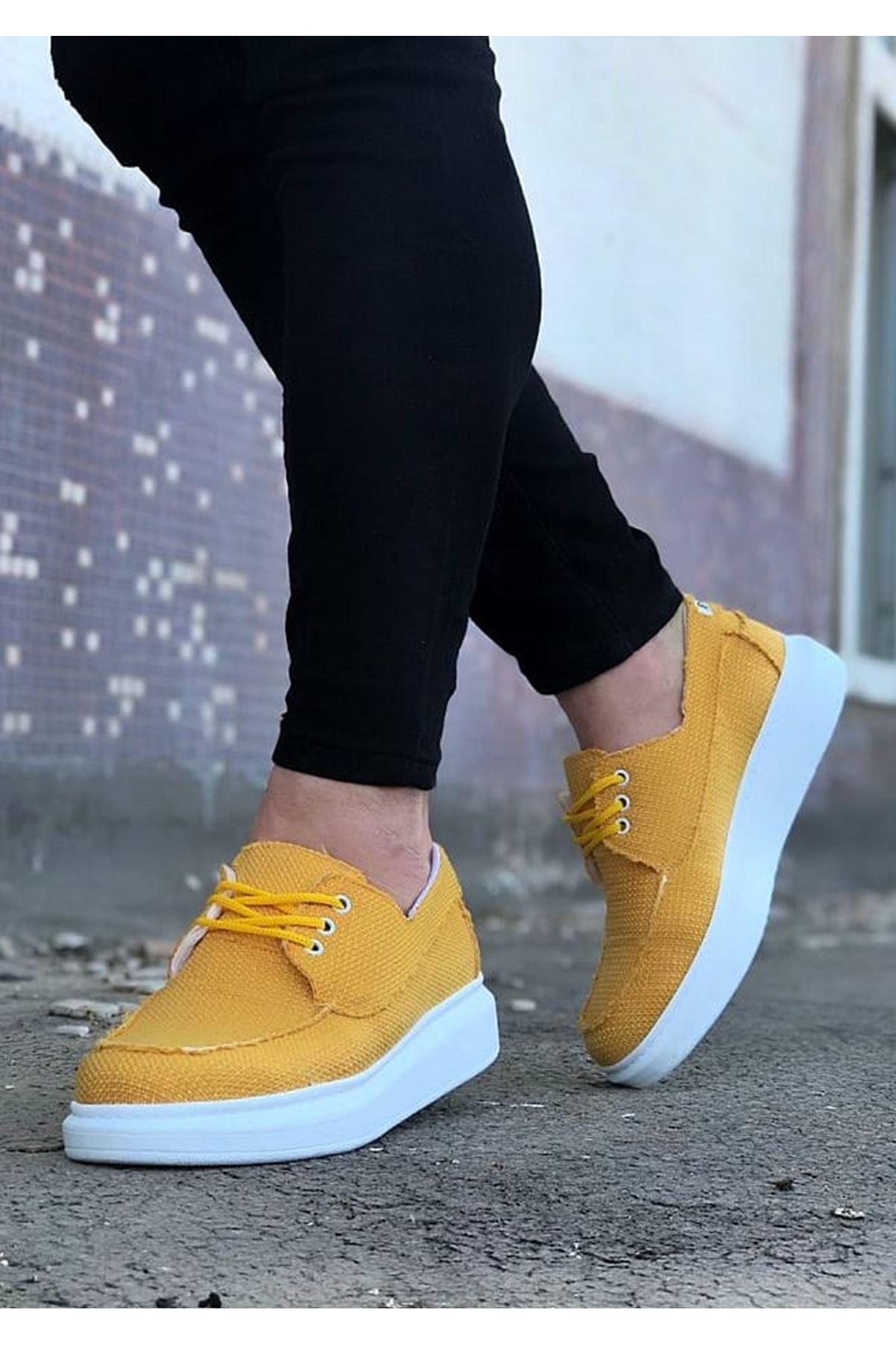 Wagoon WG503 Sarı Erkek Günlük Ayakkabı
