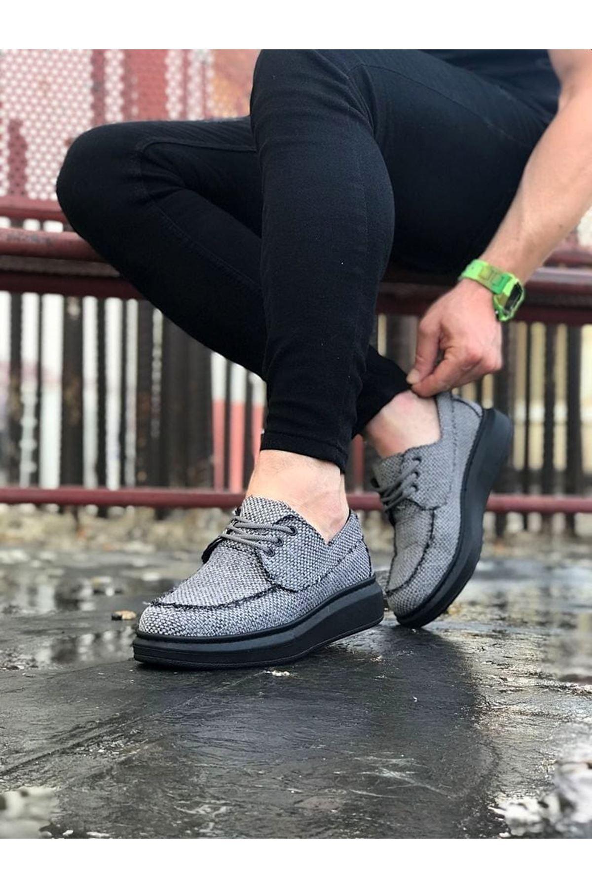 Wagoon WG503 Gri Kömür Erkek Günlük Ayakkabı