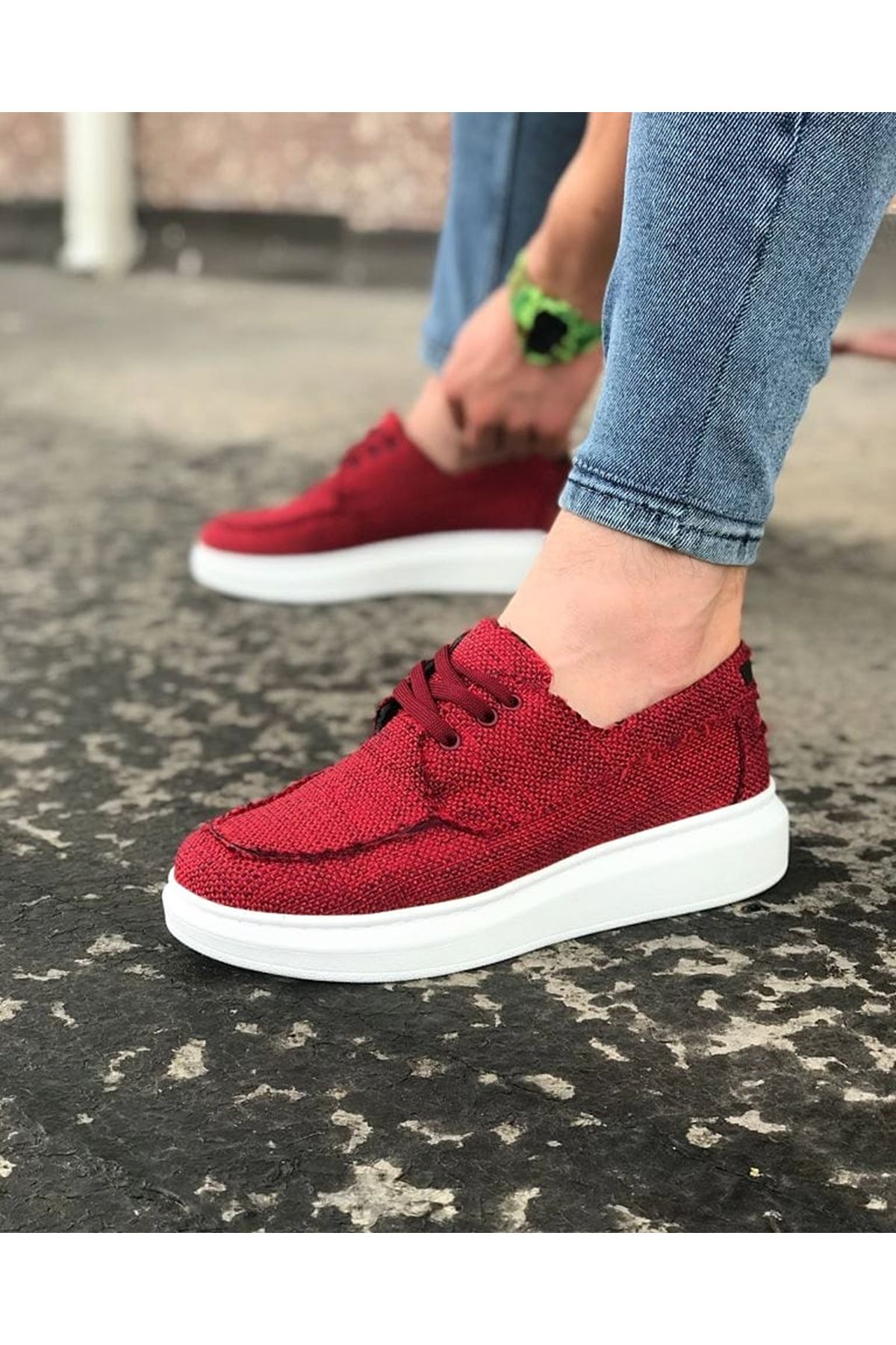 Wagoon WG503 Bordo Erkek Günlük Ayakkabı