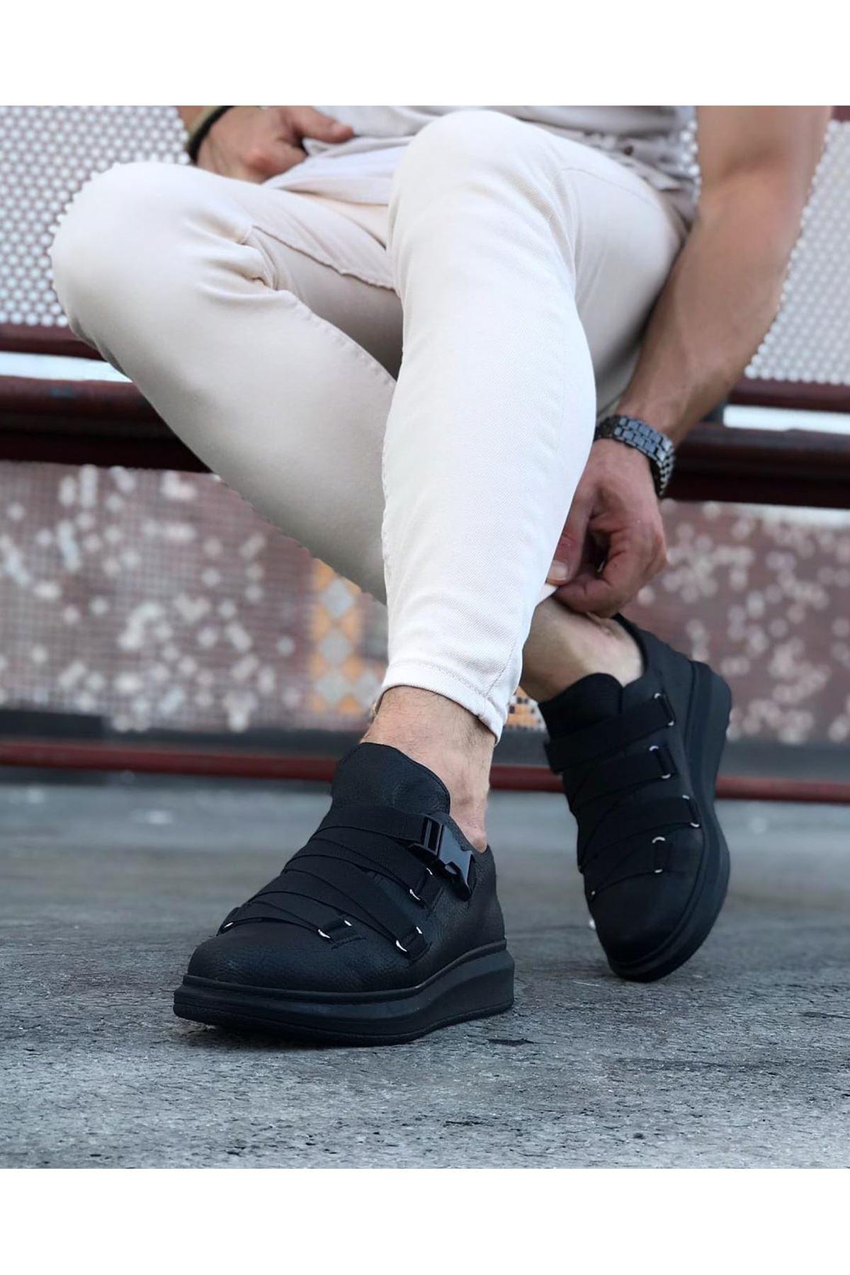 Wagoon WG033  Kömür Erkek Yüksek Taban  Ayakkabı