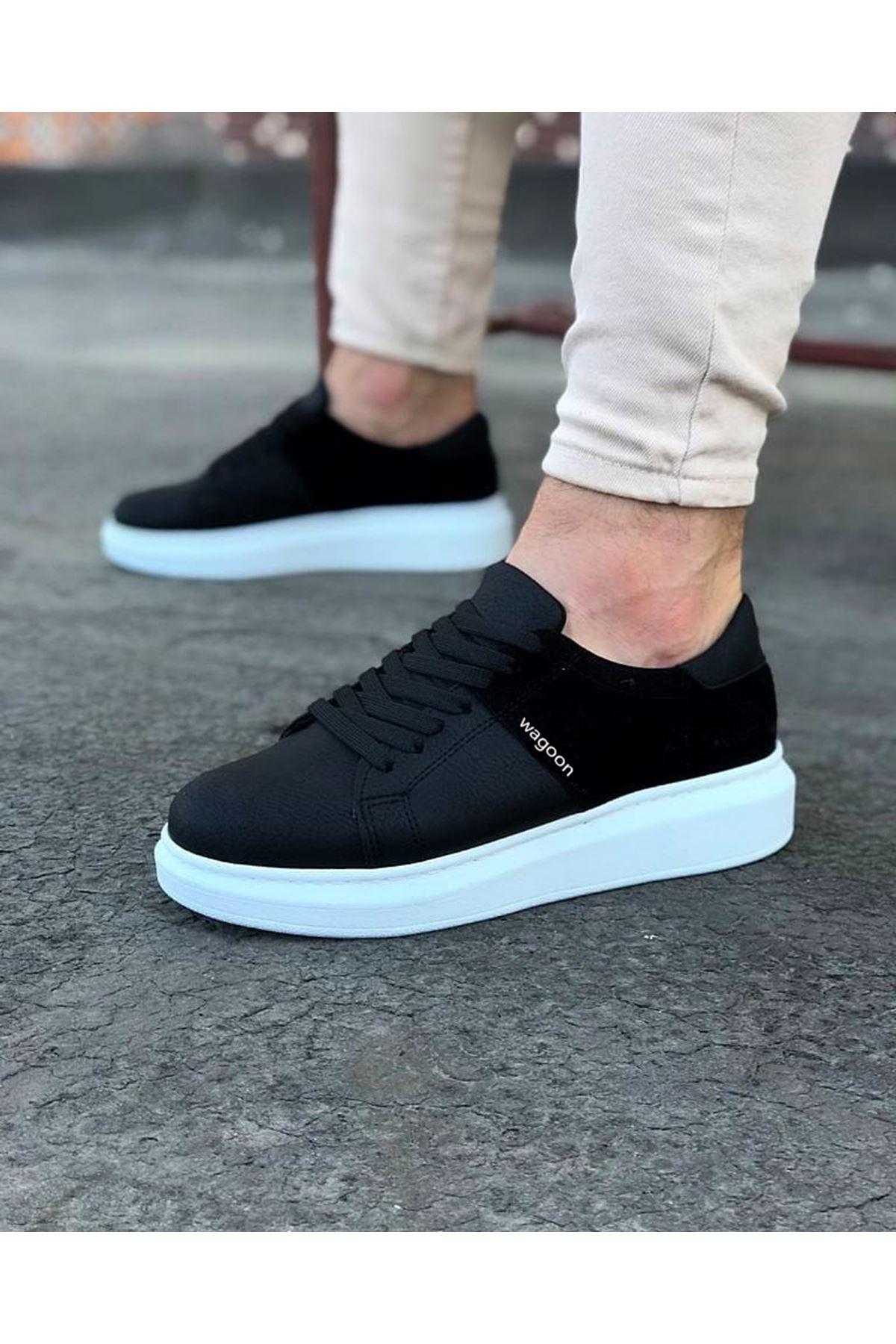 Wagoon WG151 Siyah Süet Erkek Günlük Ayakkabı