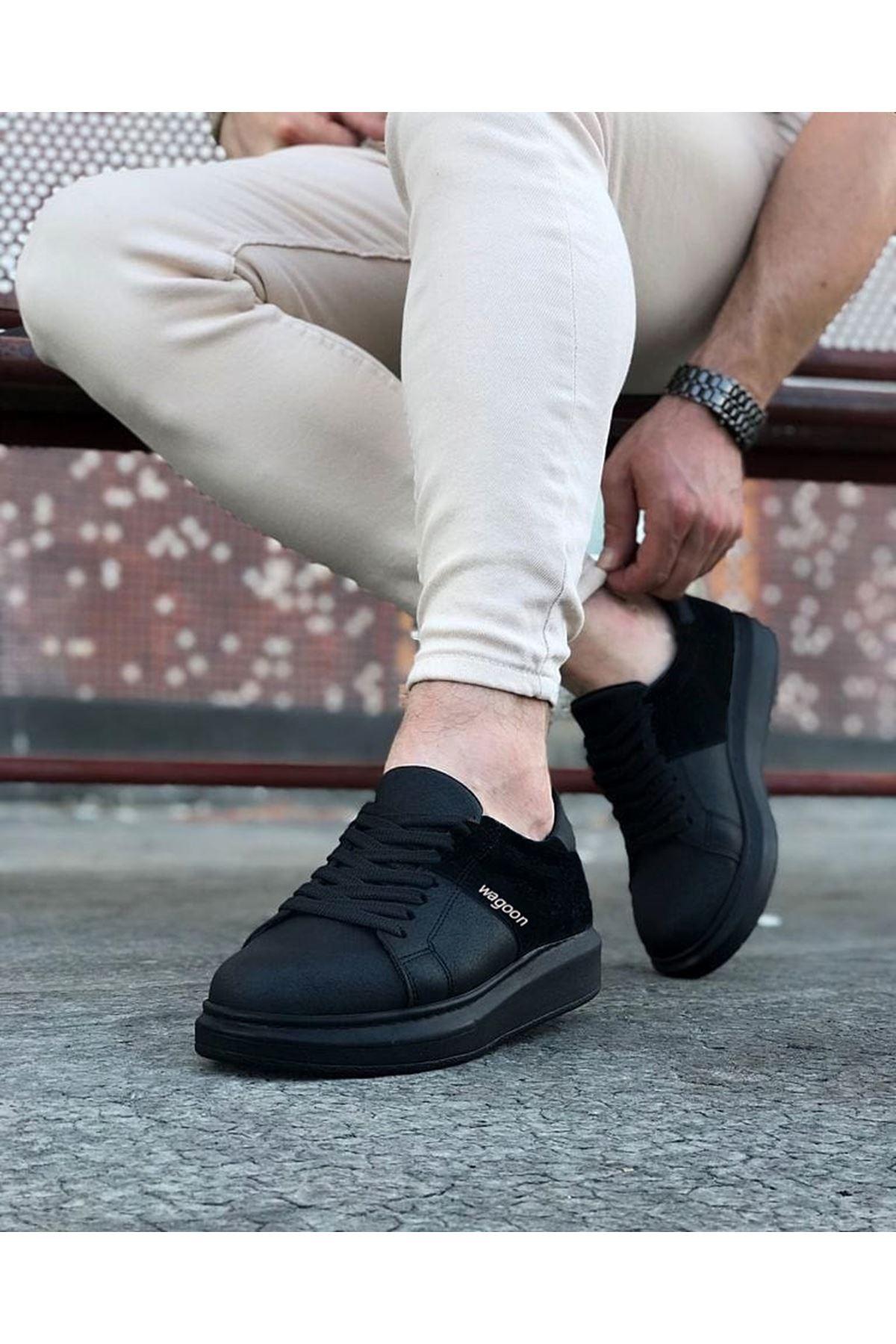 Wagoon WG151 Kömür Süet Erkek Günlük Ayakkabı