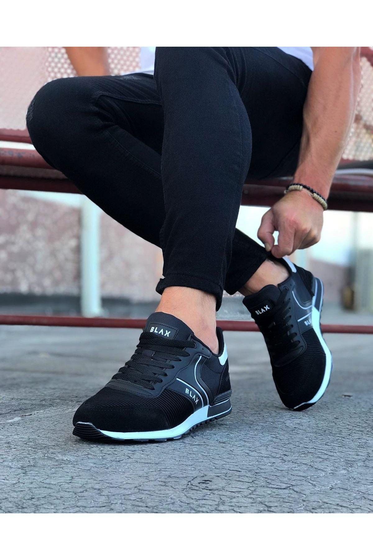 Wagoon WG014 Siyah Erkek Spor Ayakkabı