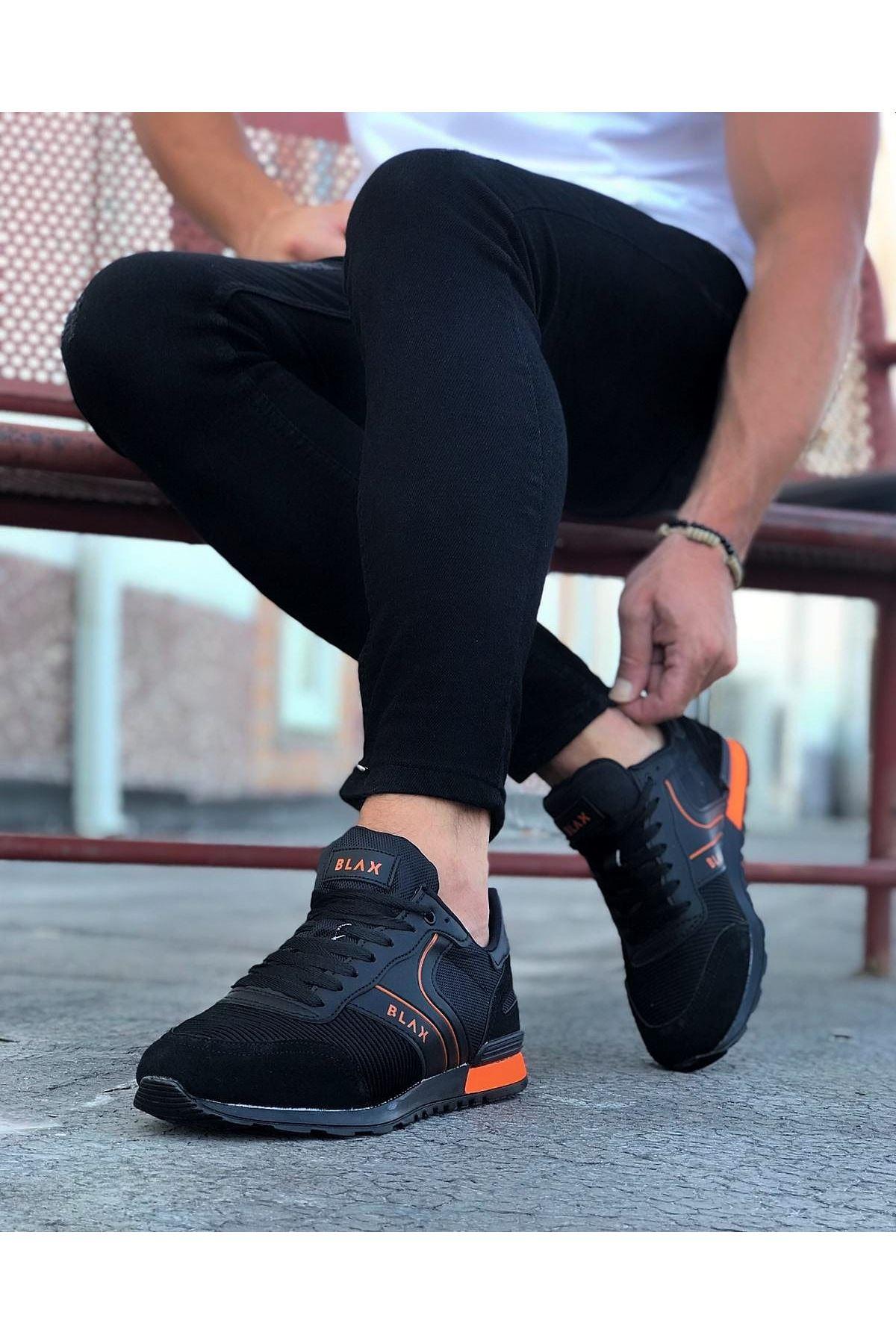 Wagoon WG014 Siyah Turuncu Erkek Spor Ayakkabı