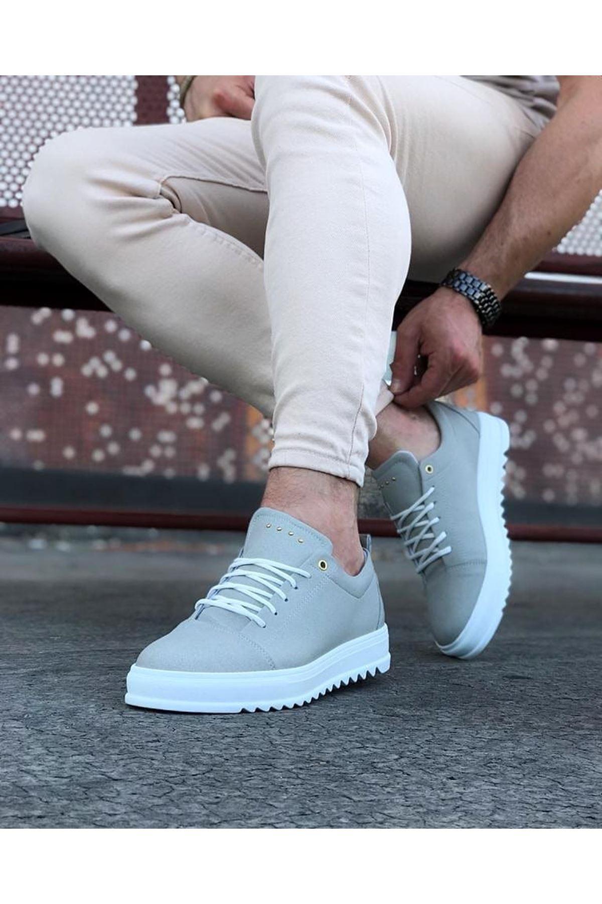 Wagoon WG152 Gri Süet Erkek Günlük Ayakkabı