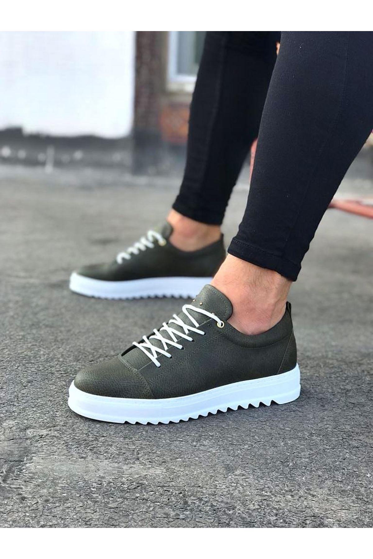 Wagoon WG152 Haki Erkek Günlük Ayakkabı