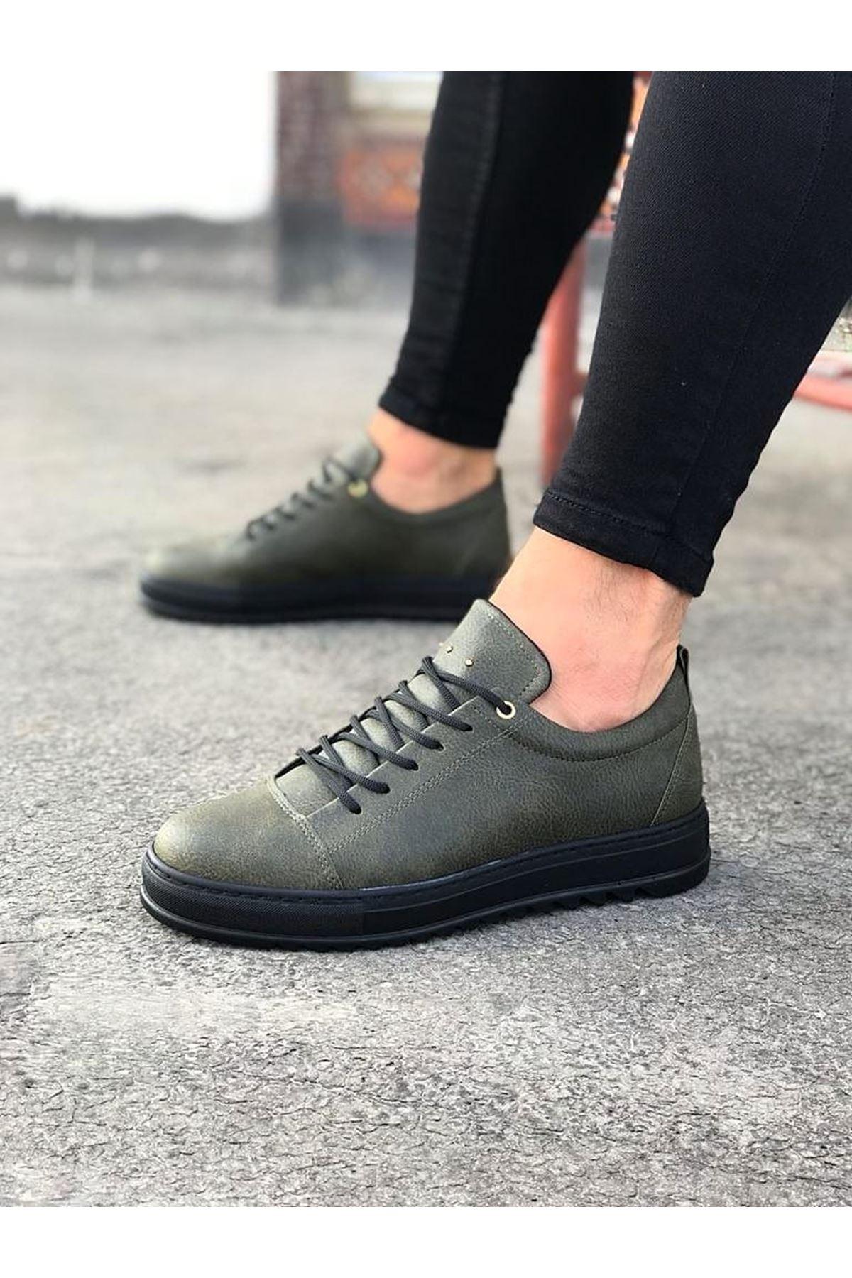 Wagoon WG152 Haki Kömür Erkek Günlük Ayakkabı