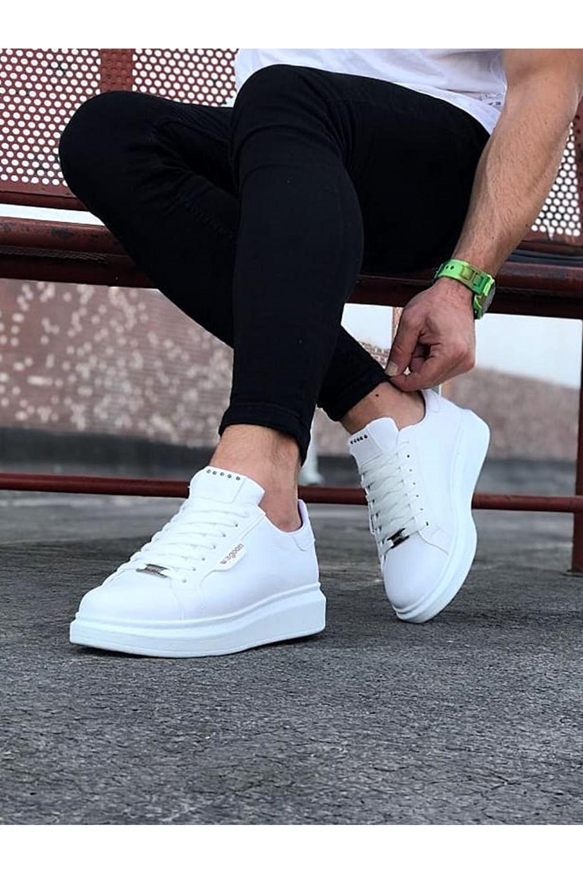 Wagoon WG01 Beyaz Düz Erkek Casual Ayakkabı